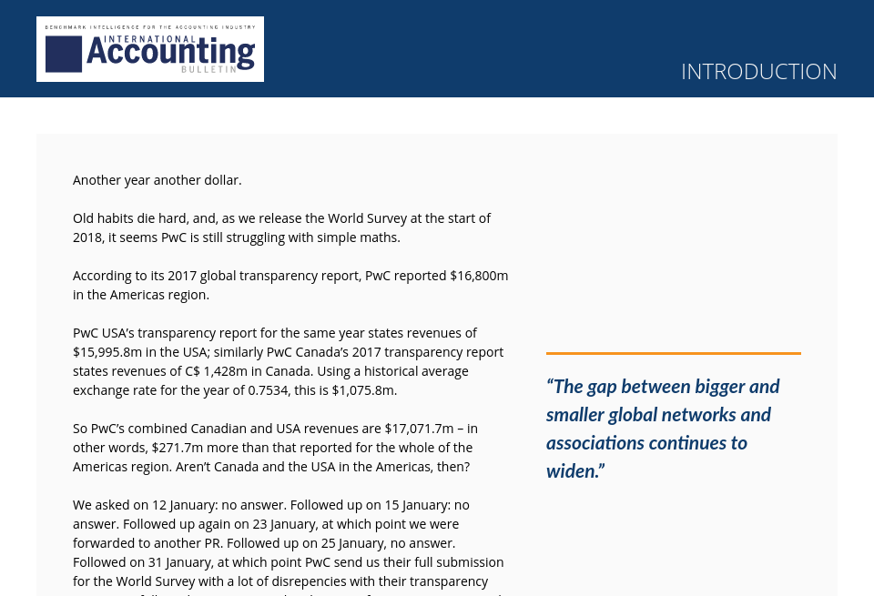 Introduction - International Accounting Bulletin | World